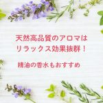 アロマテラピー、天然の香りでリラックス。精油の天然香水もおすすめ。